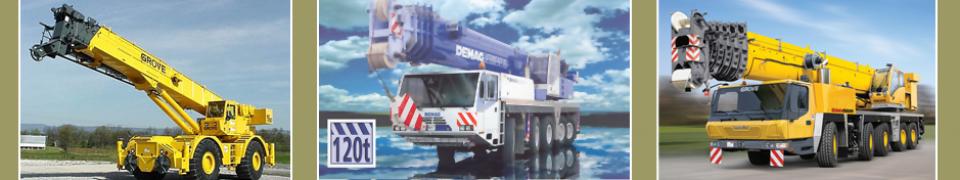 used crane rentals banner