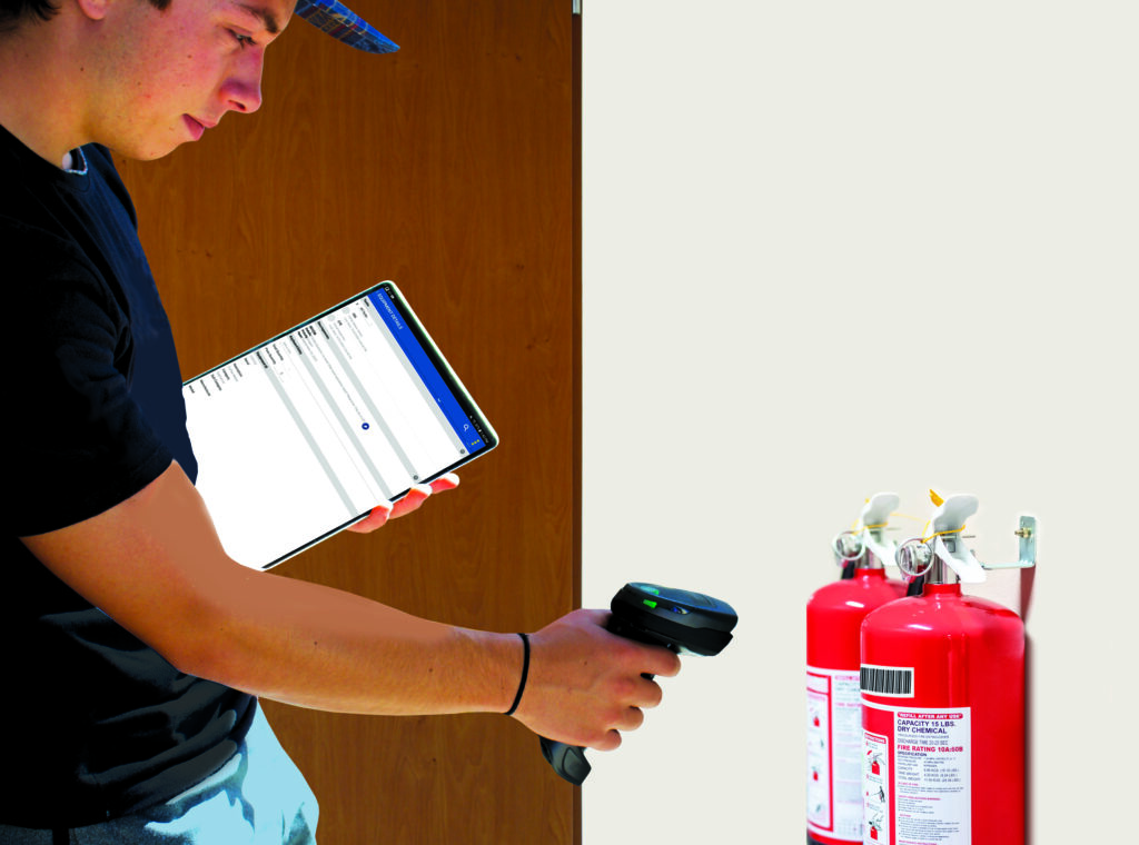 fire extinguisher barcode inspection
