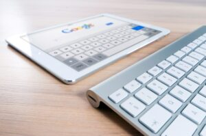 seo marketing near me keyboard and tablet