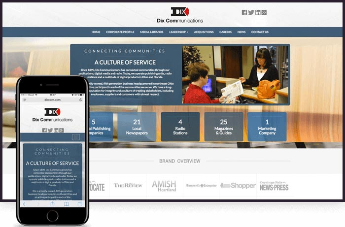 Cleveland Web Design - Dix Communications