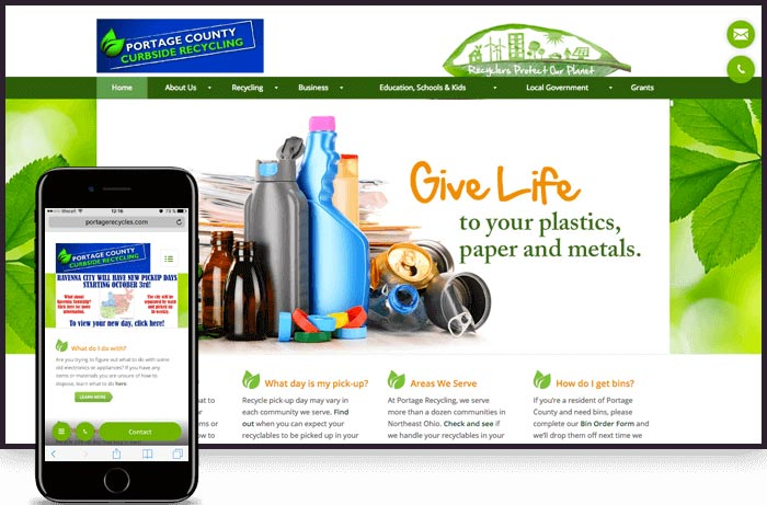 Web Design Company for Portage County Solid Waste Management District
