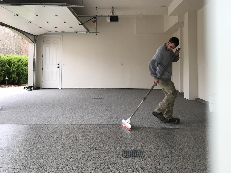 Garage Floor Coating Process | Ohio Garage Interiors